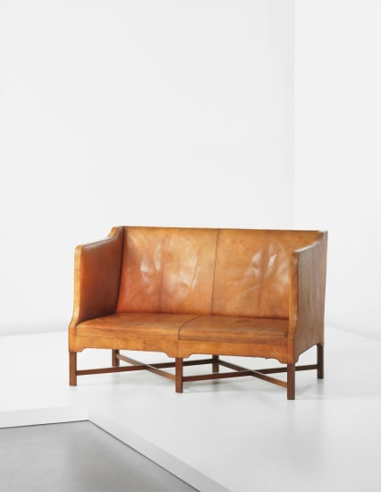Two-seater box-shaped sofa, model no. 5011