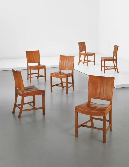 Set of six 'Red' dining chairs, model no. 4751