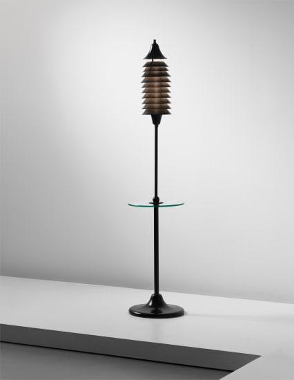 Unique standard lamp, commissioned by Mansfield D. Forbes for the Villa Finella, Cambridge