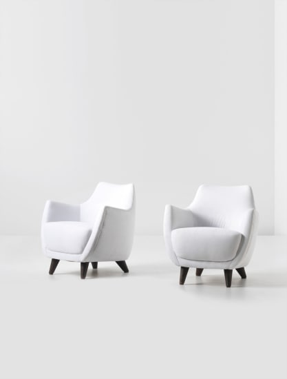 Pair of armchairs, designed for the First Class Ballroom of the 'Augustus' transatlantic ocean liner