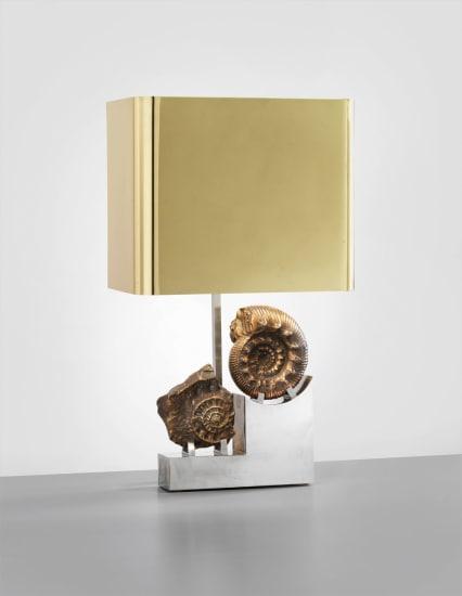 Rare 'Fossil' table lamp, designed for Claude de Muzac, Paris