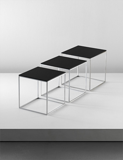 Set of three nesting tables, model no. PK 71