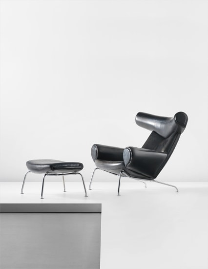 'Ox' lounge chair and ottoman, model no. AP-46