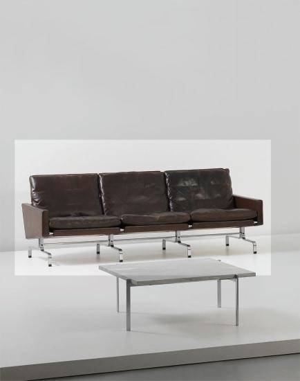 Three-seater sofa, model no. PK 31/3