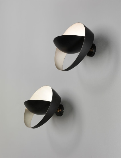 Pair of 'Saturne' wall lights
