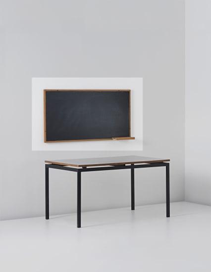 Blackboard with chalk holder, designed for la chambres d'etudiant de la Maison du Brésil, Cité Internationale Universitaire de Paris
