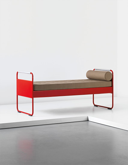 Single bed, model no. 17, designed for the Lycée Fabert, Metz