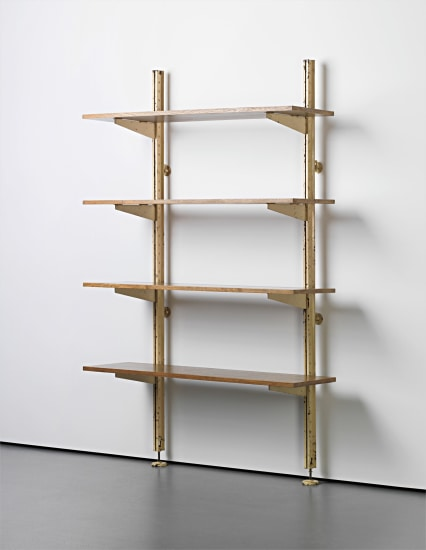 Unique set of adjustable shelves, designed for Ferembal House, Nancy