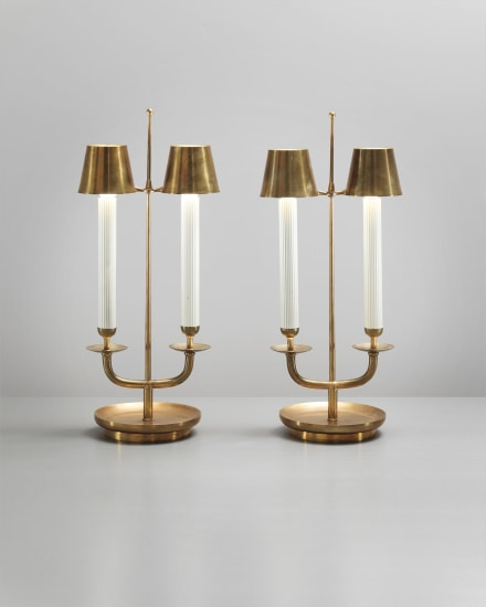 Pair of rare and early table lamps