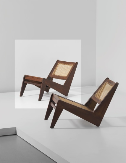 Rare low chair, model no. PJ-SI-59-A, designed for private residences and the general hospital entrance, Chandigarh