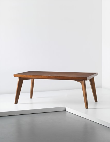 Rare dining table, designed for the Post-Graduate Institute cafeteria and private residences, Chandigarh