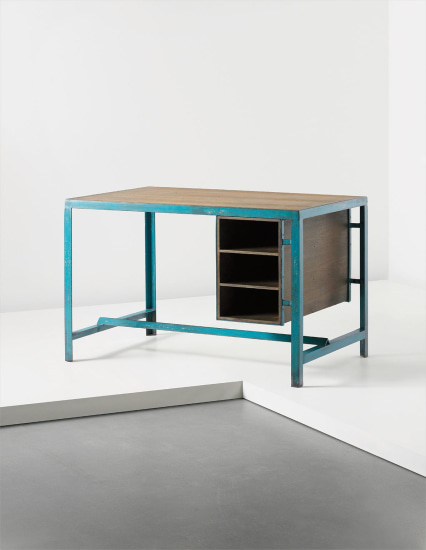 'Architect's office desk', model no. PJ-TAT-12-A, designed for the architectural classroom, Chandigarh