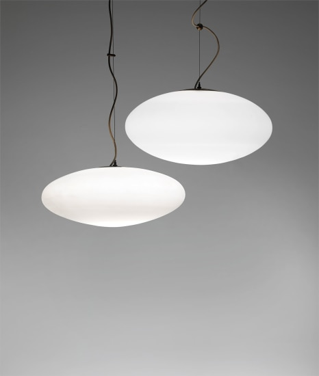 Large and small 'Pill' ceiling lights, model nos. 1187 and 1104