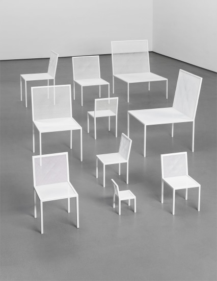 Group of ten 'Mimicry Chairs', from the unique Red Room installation, commissioned by the London Design Festival