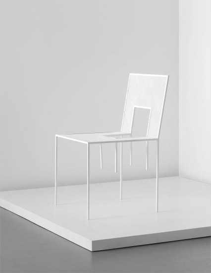 Unique chair, from the 'Mimicry Chairs' installation, commissioned by the London Design Festival
