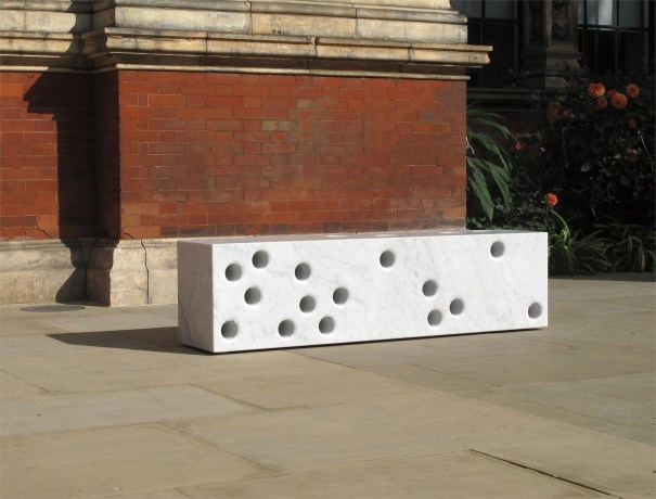 Unique 'Western Façade' bench, for 'Bench Years', commissioned by the London Design Festival