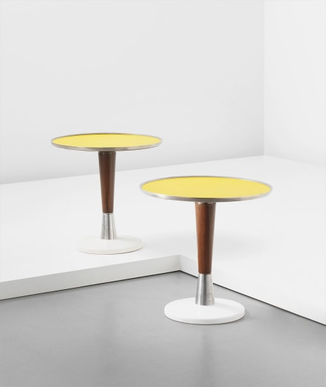 Pair of small side tables, designed for the First Class Ballroom of the 'Augustus' transatlantic ocean liner