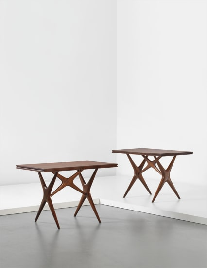 Pair of tables, from the Cavallini Restaurant, Milan