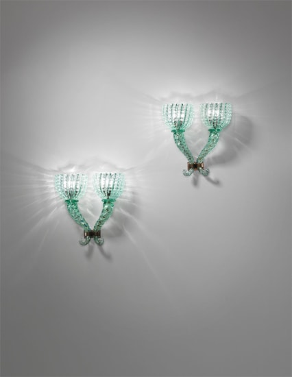 Pair of large wall lights
