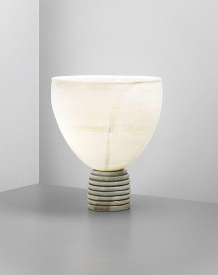 Rare 'Lattimo Aurato' table lamp