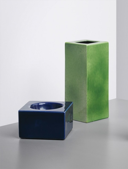 Two vases, model nos. 584 and 444, from the 'Colaggio' series