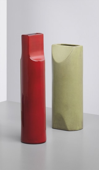 Vase, model no. 585, with another vase both from the 'Fishietto' series