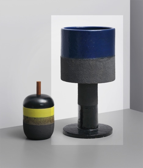 Large 'lava' vase, model no. 388, from the 'Ceramiche di lava' series