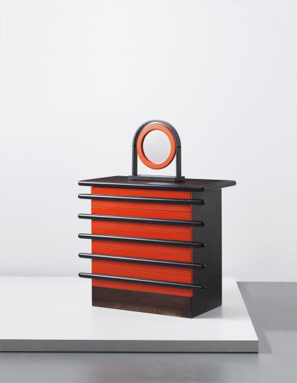 Rare 'Bastonio' chest of drawers with adjustable mirror