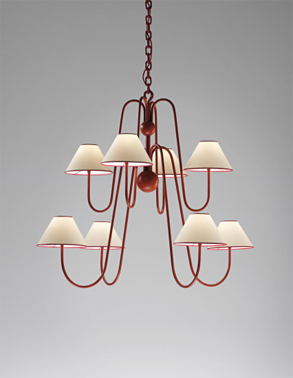 Eight-armed 'Bouquet' chandelier