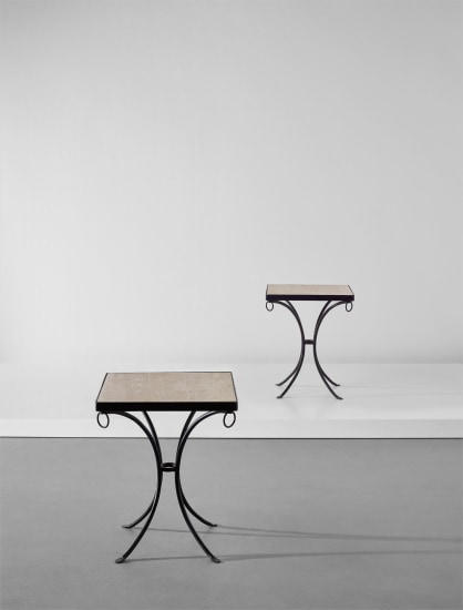 Pair of rare side tables
