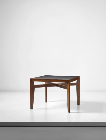 Rare 'Working table', model no. PJ-TA-07-A, designed for private residencies, Chandigarh