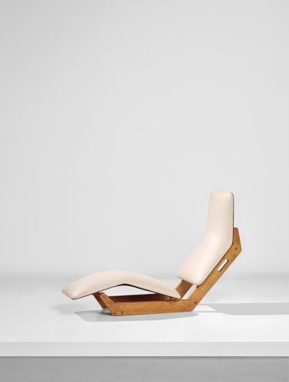 Rare 'Dolphin' chaise longue