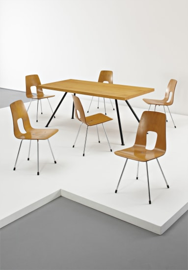 Hans Bellmann Rare Dining Table With Six Chairs C 1955 Phillips