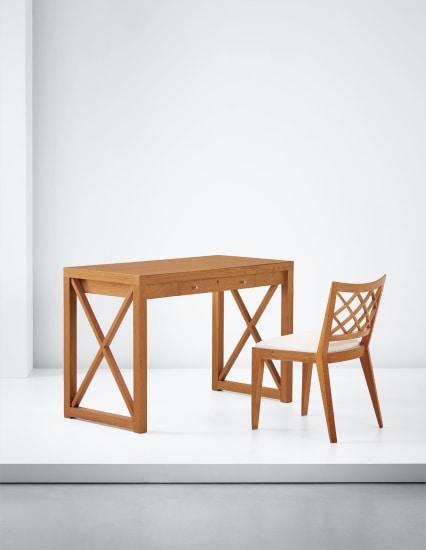 'Croisillon' desk and chair