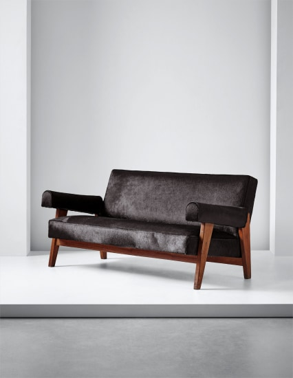 Sofa, model no. LC/PJ-SI-42-A/B, designed for the High Court and Assembly, Chandigarh