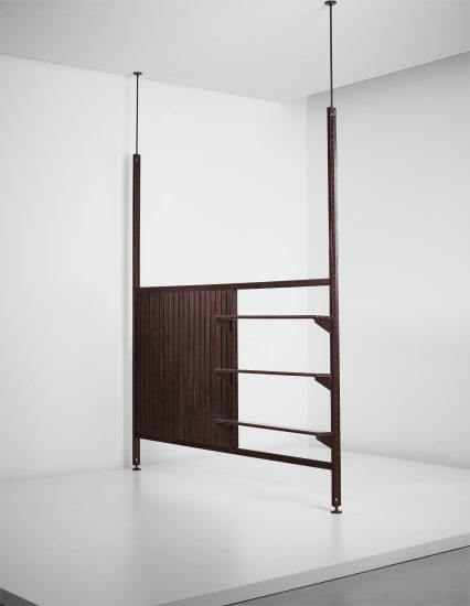 Rare and large 'Afrique' room divider, designed for the Air France building, Brazzaville, Congo