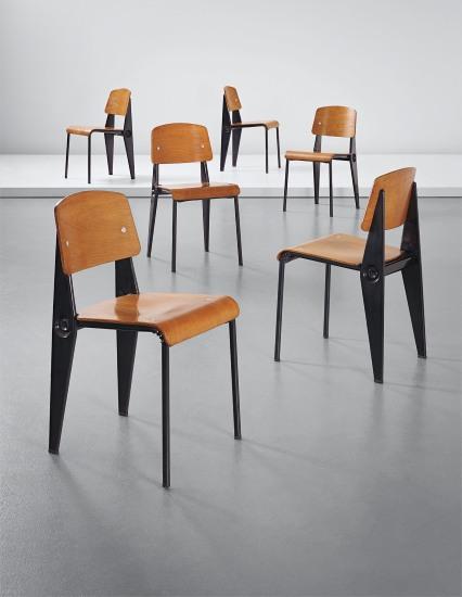 Set of six rare demountable 'Semi-metal' chairs, model no. 300