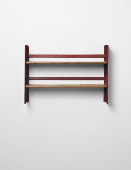 Rare 'Cité' wall-mounted shelving unit, designed for the student rooms of the Cité Universitaire, Nancy