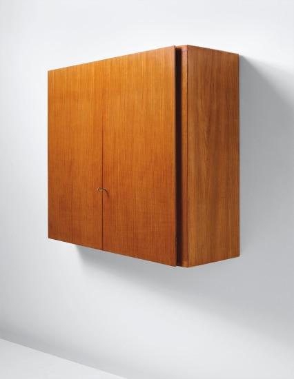 Unique wall-mounted storage unit, designed for a Villa, Liguria