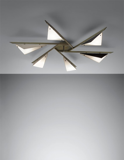 Rare six-armed ceiling light