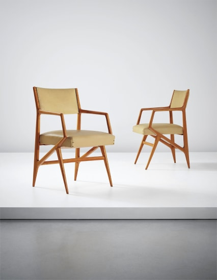 Pair of rare armchairs, model no. 835