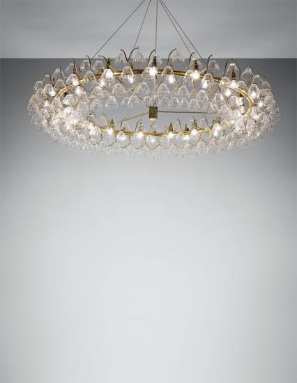 Monumental 'Embassy' chandelier, designed for the living room of the Danish Ambassador's Residence, Washington, D.C.