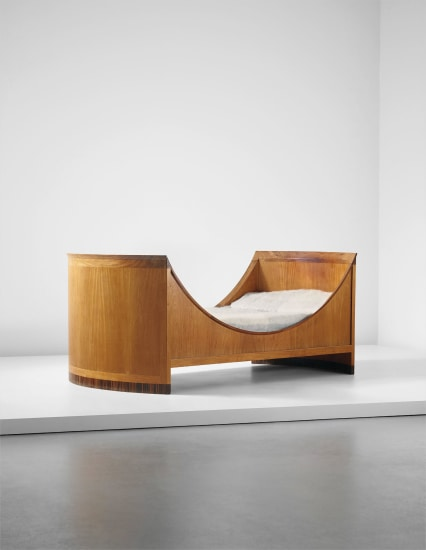 Rare 'Spherical Bed', model no. 5761, designed for a 'lady's boudoir', Copenhagen Cabinetmakers' Guild, Charlottenborg