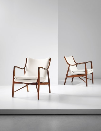 Pair of early armchairs, model no. NV45