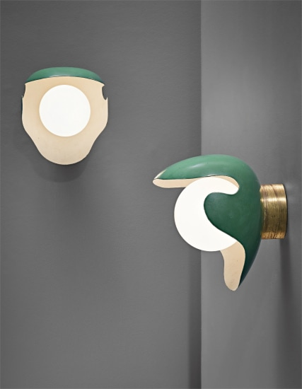 Pair of large wall lights, designed for the canteen, Aarhus Oil Factory A/S
