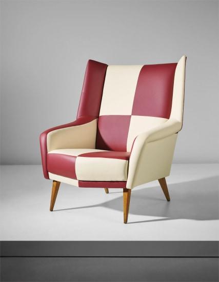 Rare 'Mariposa' armchair, model no. 851, from a private villa, Liguria