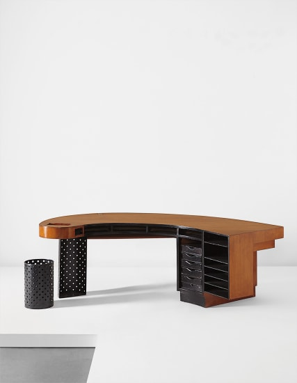 Unique desk, from the architect's residence, Rue de Chateaubriand, Paris