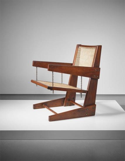 Rare 'Swinging seat' armchair, model no. PJ-SI-07-B