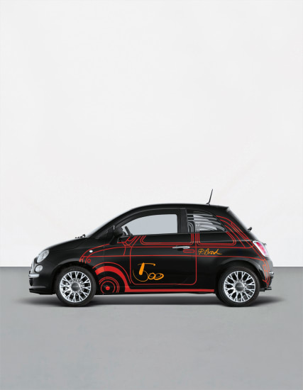 Unique vinyl-wrapped Fiat 500 1.4 16v Sport Dualogic