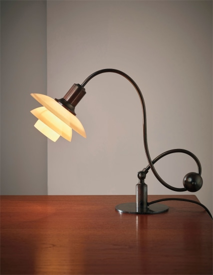 Piano lamp, with type 2/2 shades